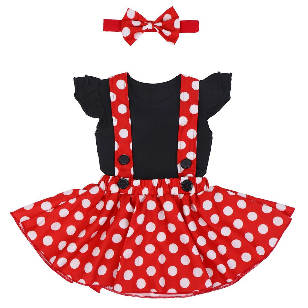 Baby Girls Minnie Mouse 1st Birthday Party Costume Outfits Fancy Dress Clothes