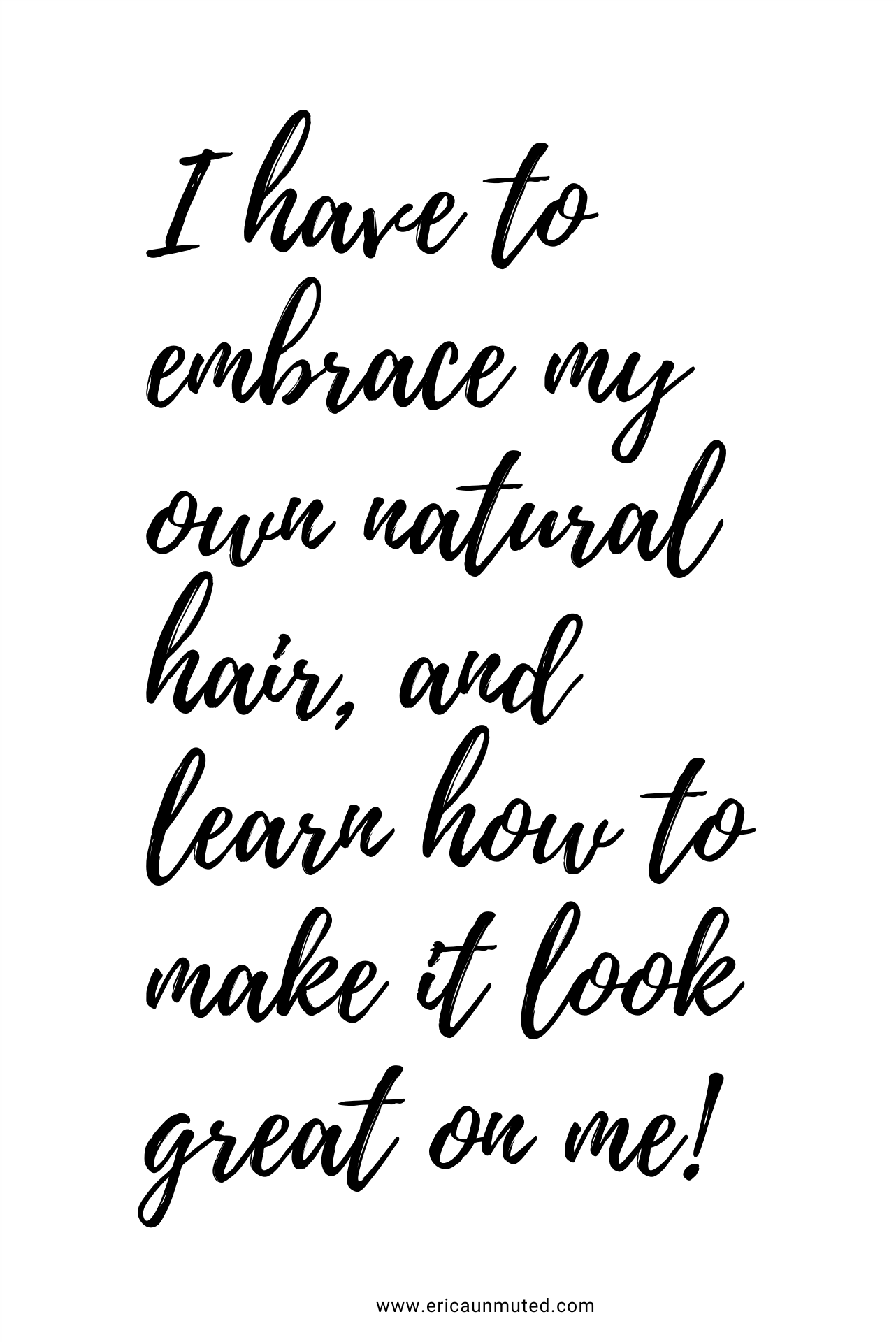 Learn to embrace your own natural hair! Visit my blog to read about how Im learning to embrace my