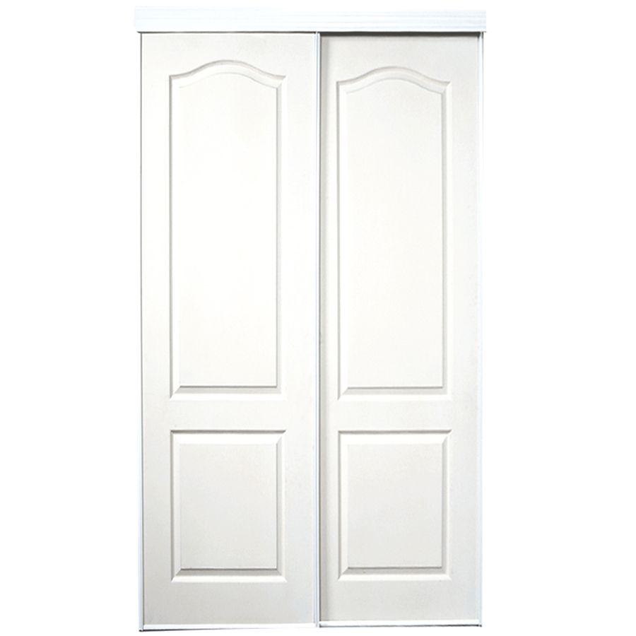 Shop Reliabilt White 2 Panel Sliding Door Common 48 In X 805 In