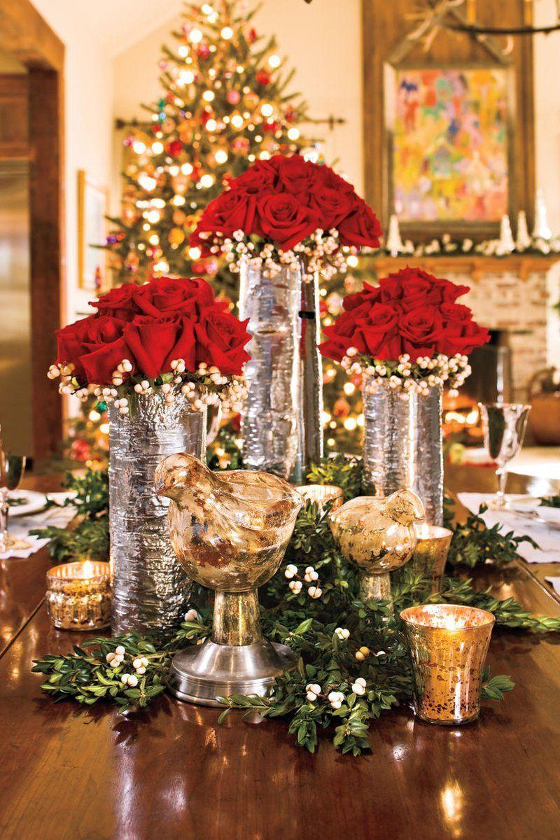 100 Best Ever Christmas Decorating Ideas Elegant Christmas Centerpieces Christmas Table Decorations Christmas Centerpieces