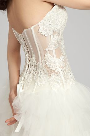 dramatic twopiece wedding gown sweetheart lace corset