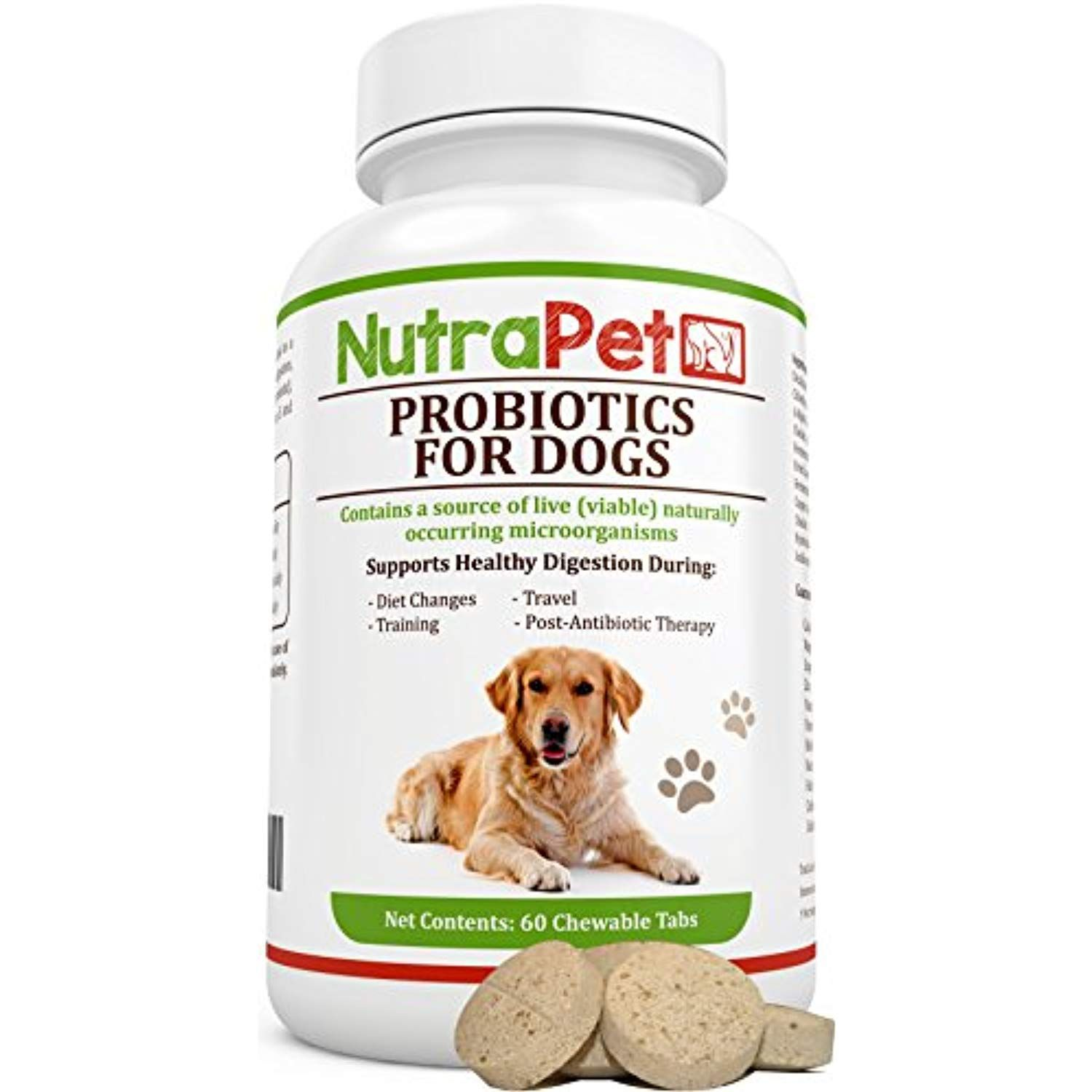 NutraPet Probiotics for Dogs Chewable, Digestive Health