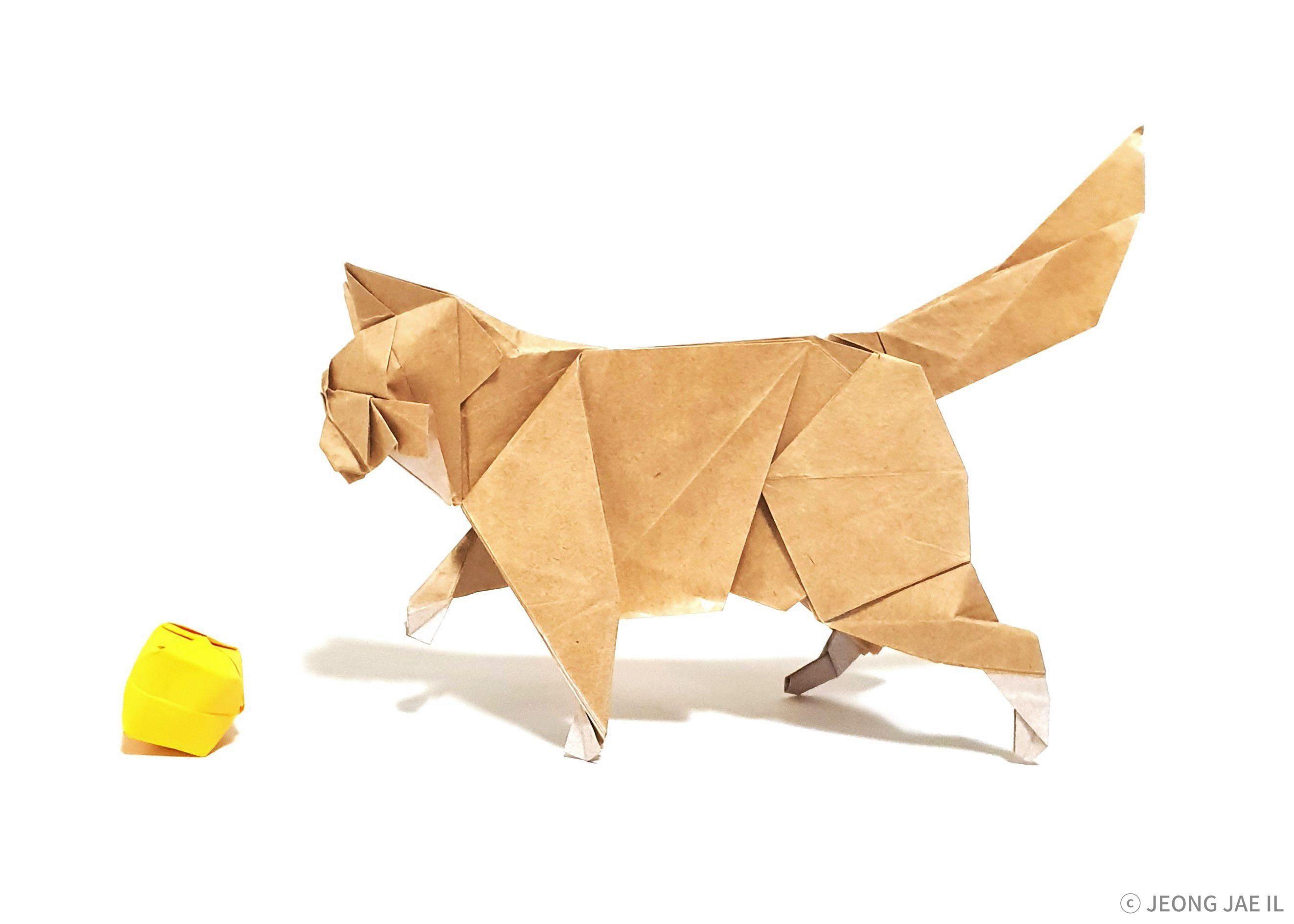 Cat Designed by me Origami cat, Cat design, Origami