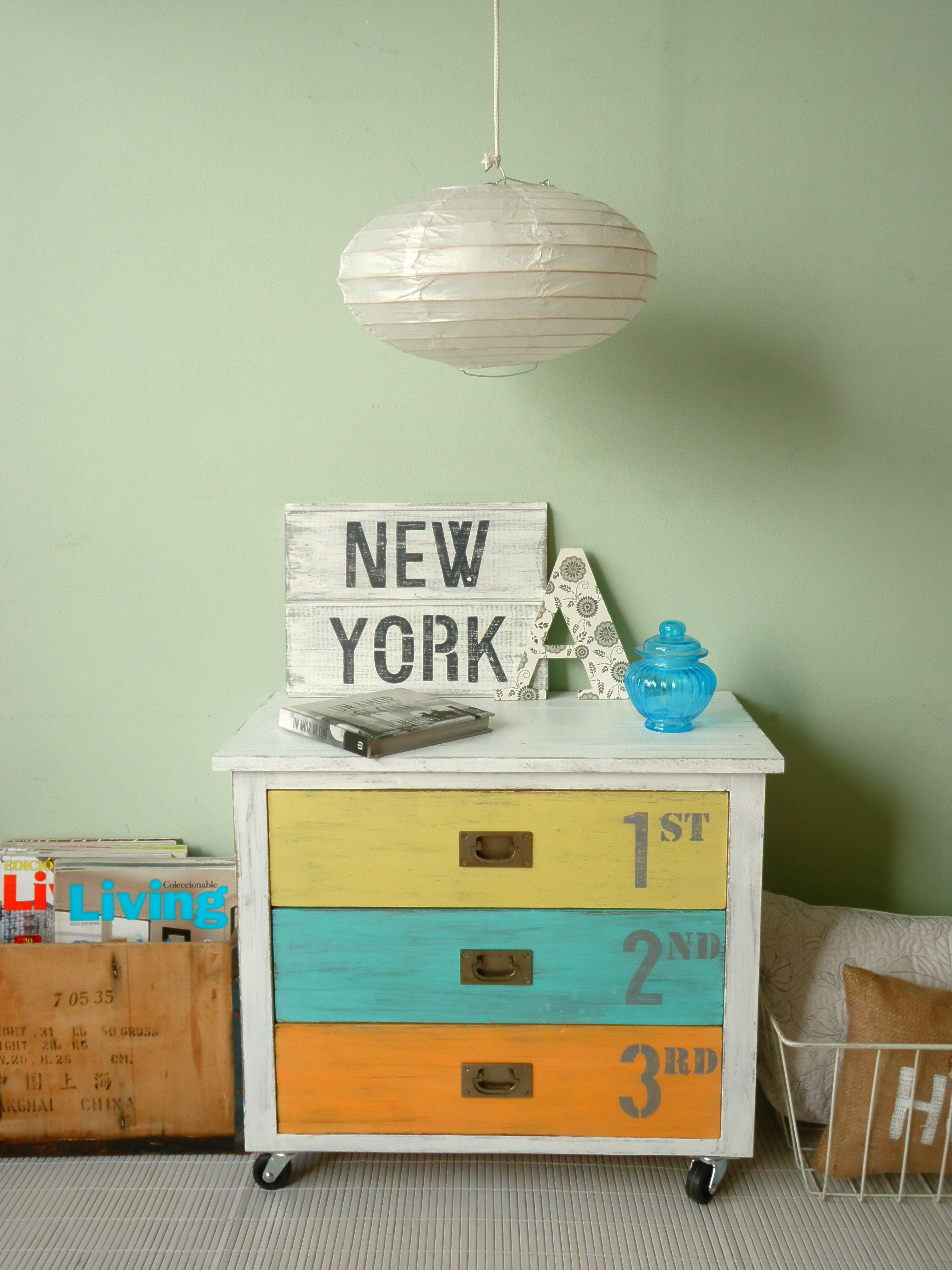 Mueble Pintado Viva El Color Renueva Tus Muebles Con Un Poco  # Muebles Fuentes Carballo
