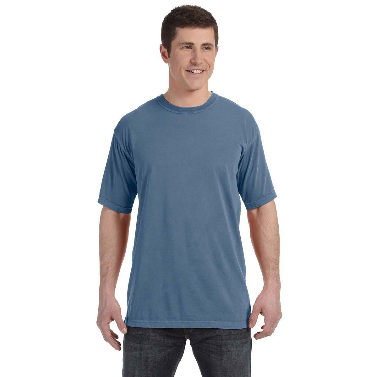 Comfort Colors Men S Blue Jean 4 8 Oz T Shirt Company Logo
