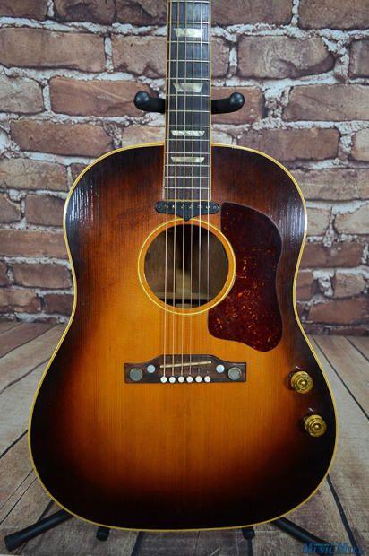 Vintage 1955 Gibson J 160e Acoustic Electric Guitar Sunburst Transitional Model Lennon Beatles Manchester Music Mill Reverb Acoustic Guitar Pictures Best Acoustic Guitar Acoustic Electric Guitar
