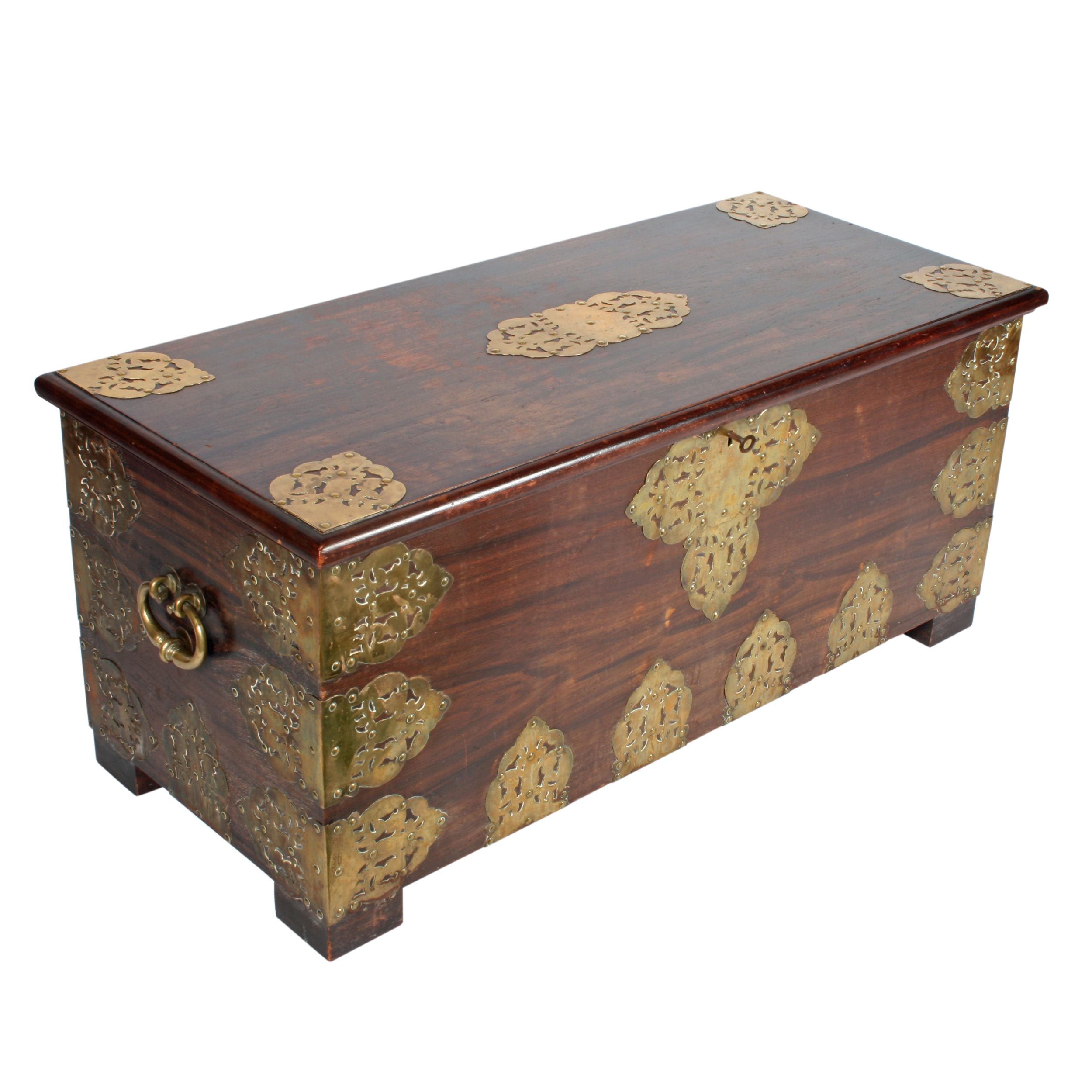Restored All Wood Dome Top Antique Trunk For Sale 713 Antique Trunk Antique Steamer Trunk Trunks For Sale