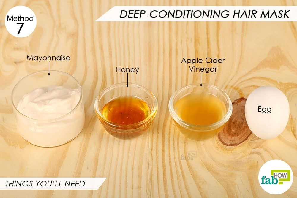 Things Needed To Make Diy Deep Conditioning Egg Hair Mask Homemade Hair Treatments Mayonnaise Hair Mask Hair Mask