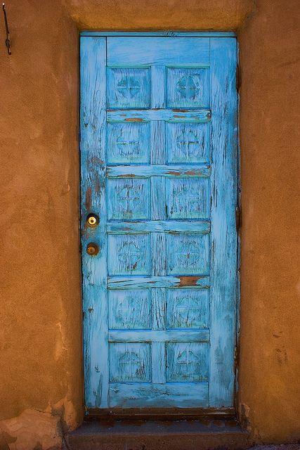Prototypical Santa Fe Door Southwestern Front Doors