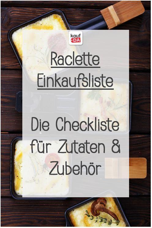 Raclette Einkaufsliste - Die Checkliste für Zutaten und Zubehör - kaufDA Magazin