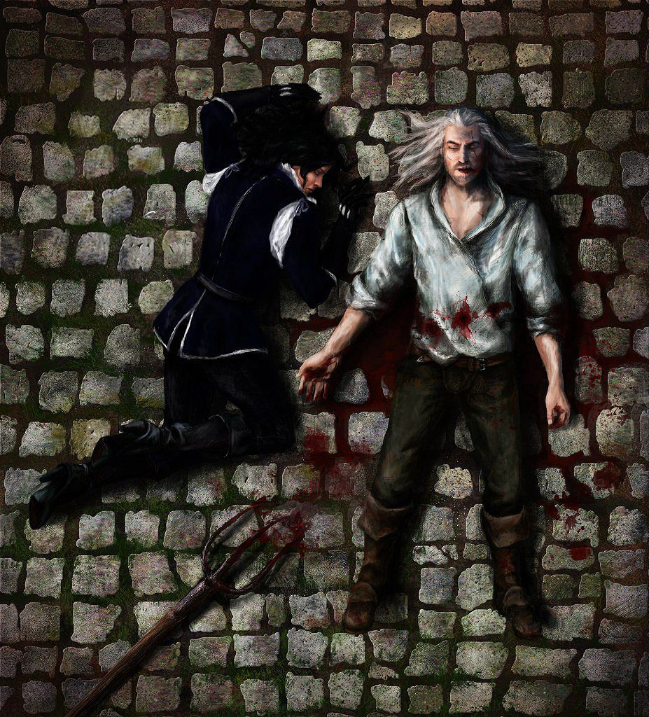 Witcher Book Cover Art ~ The witcher geralt s and yennefer death