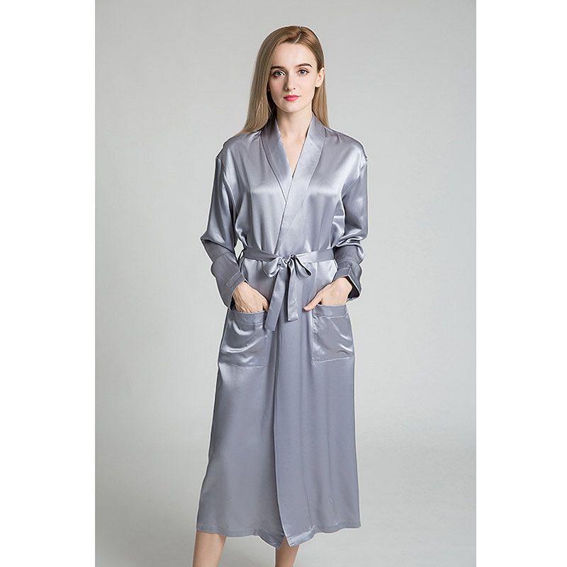 fe21d5aba1 22 Momme Classic Full Length Silk Robe in 2019