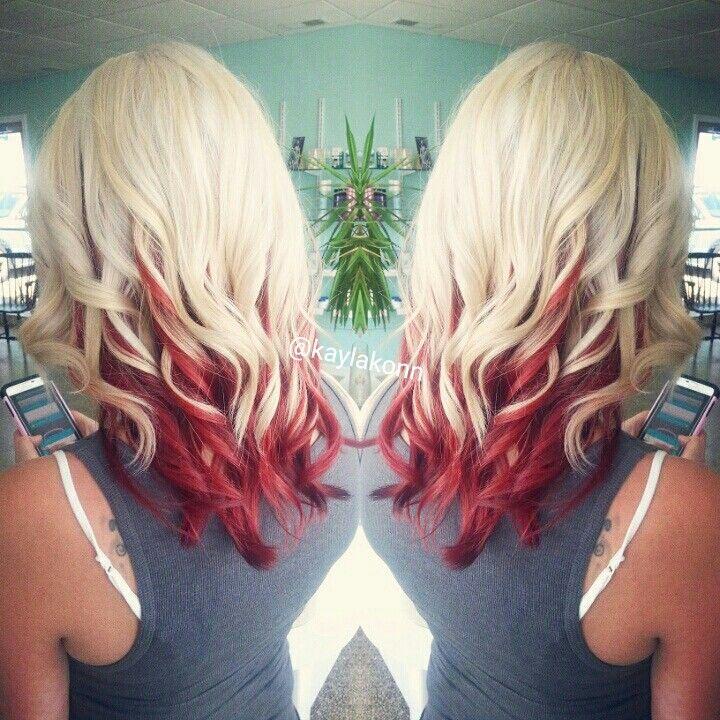 The 25 Best Blonde Hair Red Underneath Ideas On Pinterest