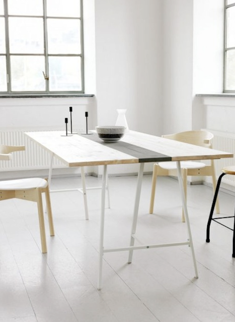 Dining Table Love The Blonde Wood With The Black Stripe With
