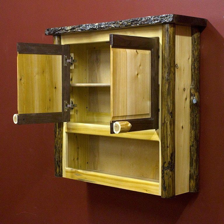 black walnut rustic cedar over the toilet cabinet rustic bathroom ideas but no toilet paper. Black Bedroom Furniture Sets. Home Design Ideas