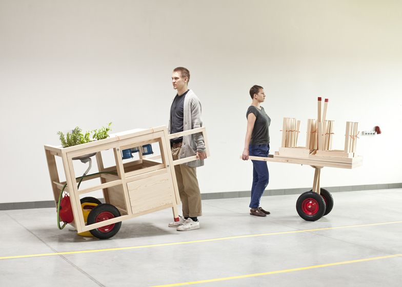 A mobile kitchen by designed by Anna Rosinke and Maciej Chmara has ...