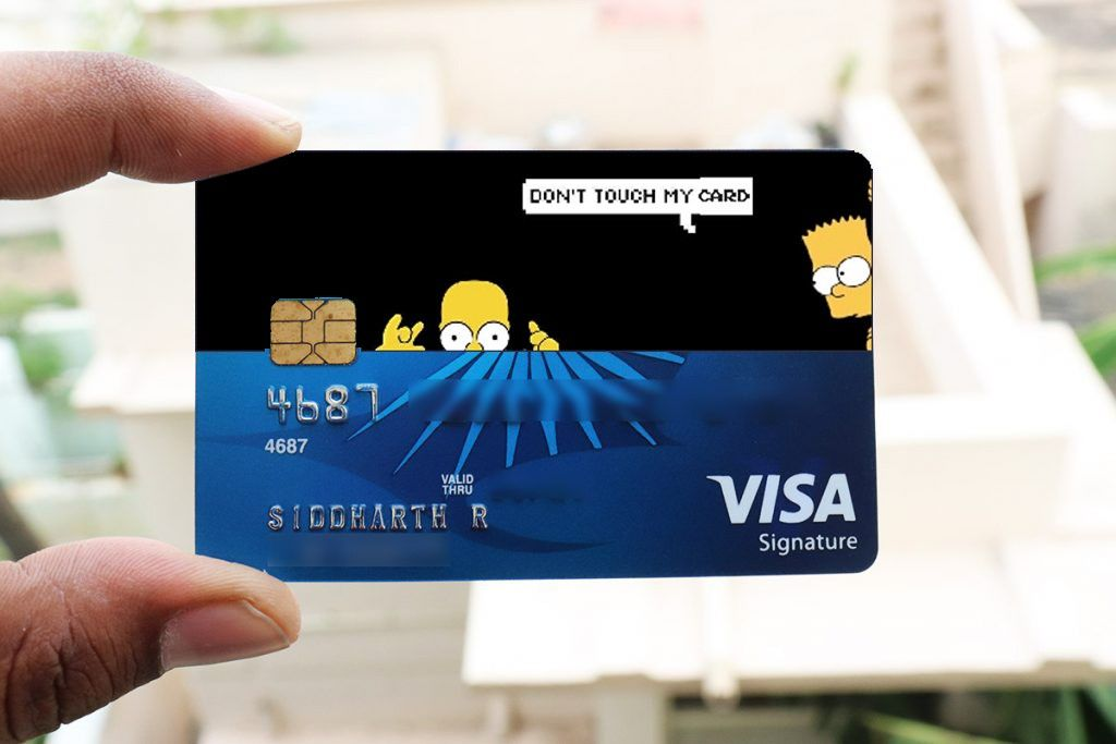 The Simpson Don T Touch My Card Card Sticker Classic Card Cards I Card