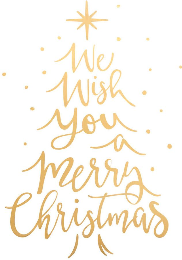 Holiday Lane We Wish You A Merry Christmas Gold Tone Typography Wall Decal Created For Macy S Affiliate Gold Christmas Christmas Decals Christmas Wall Decal