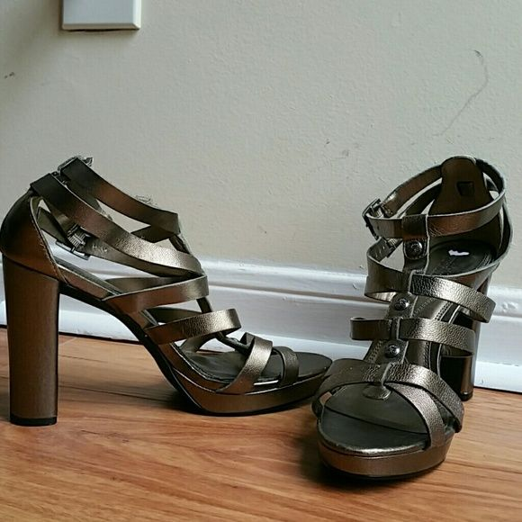 VeraWangleatherstrappyheels Brandnew...4inches  WANT TO SAVE MORE? BUNDLE TO GET 20% OFF... ENTIRE CLOSET  Vera Wang Shoes