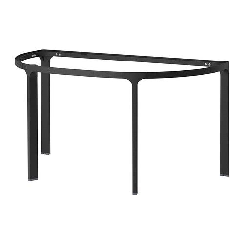 Bekant Frame For Half Round Table Top Black Ikea