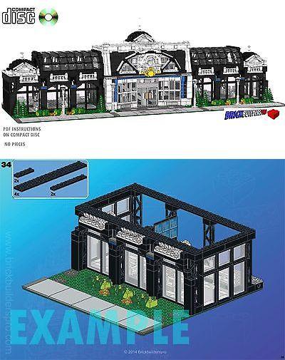Cd Modular Terminus Train Station Lego Custom Instructions Cafe