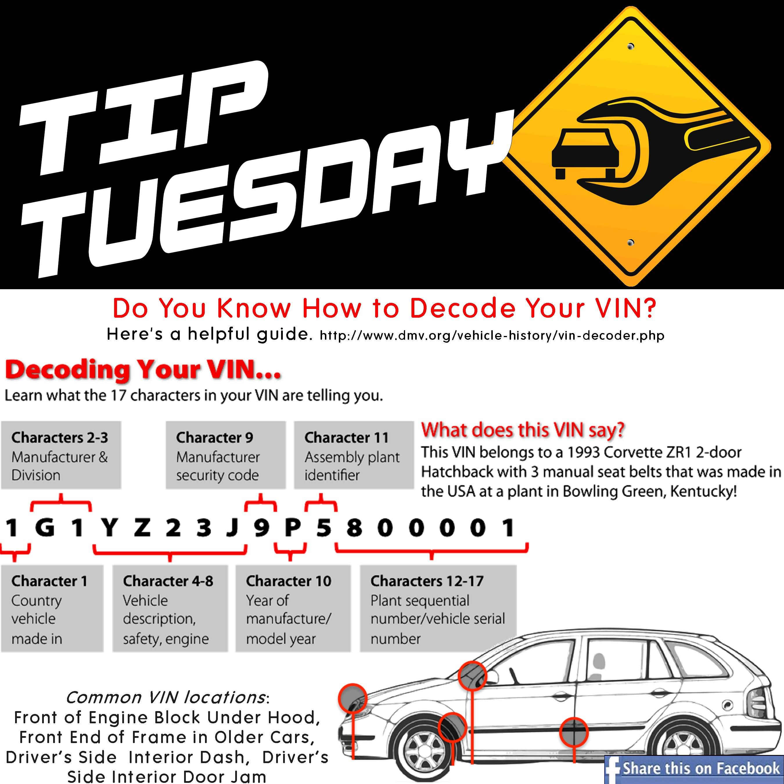 Car Car Tip: Do You Know How to Decode Your VIN? Here\'s a helpful ...