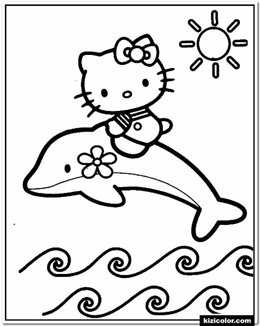 35 Delfin Ausmalbilder Kostenlos Ausdrucken In 2020 Ausmalbilder Hello Kitty Malvorlagen