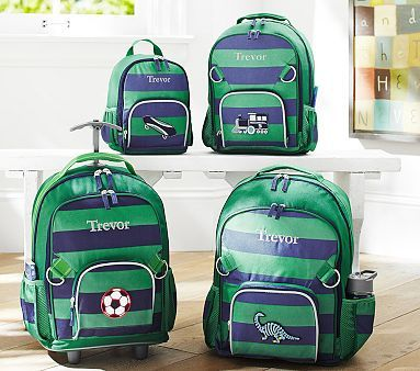 Love This Peppy Rugby Print Fairfax Green Pottery Barn Kids