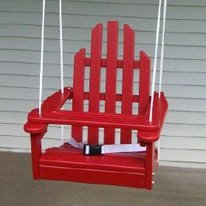 Kiddie Porch Swing For Baby Or Toddler Looks Like An Adirondack