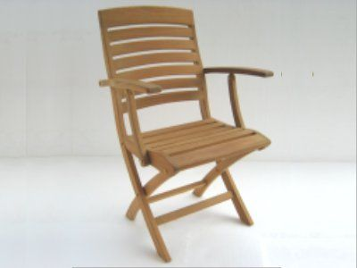 Atlanta Teak Furniture Teak Folding Arm Chair GradeA    Want Additional  Info? Click On
