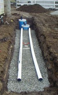 Como construir un sistema para aguas negras, pequeño.How to Construct a Small Septic System Project