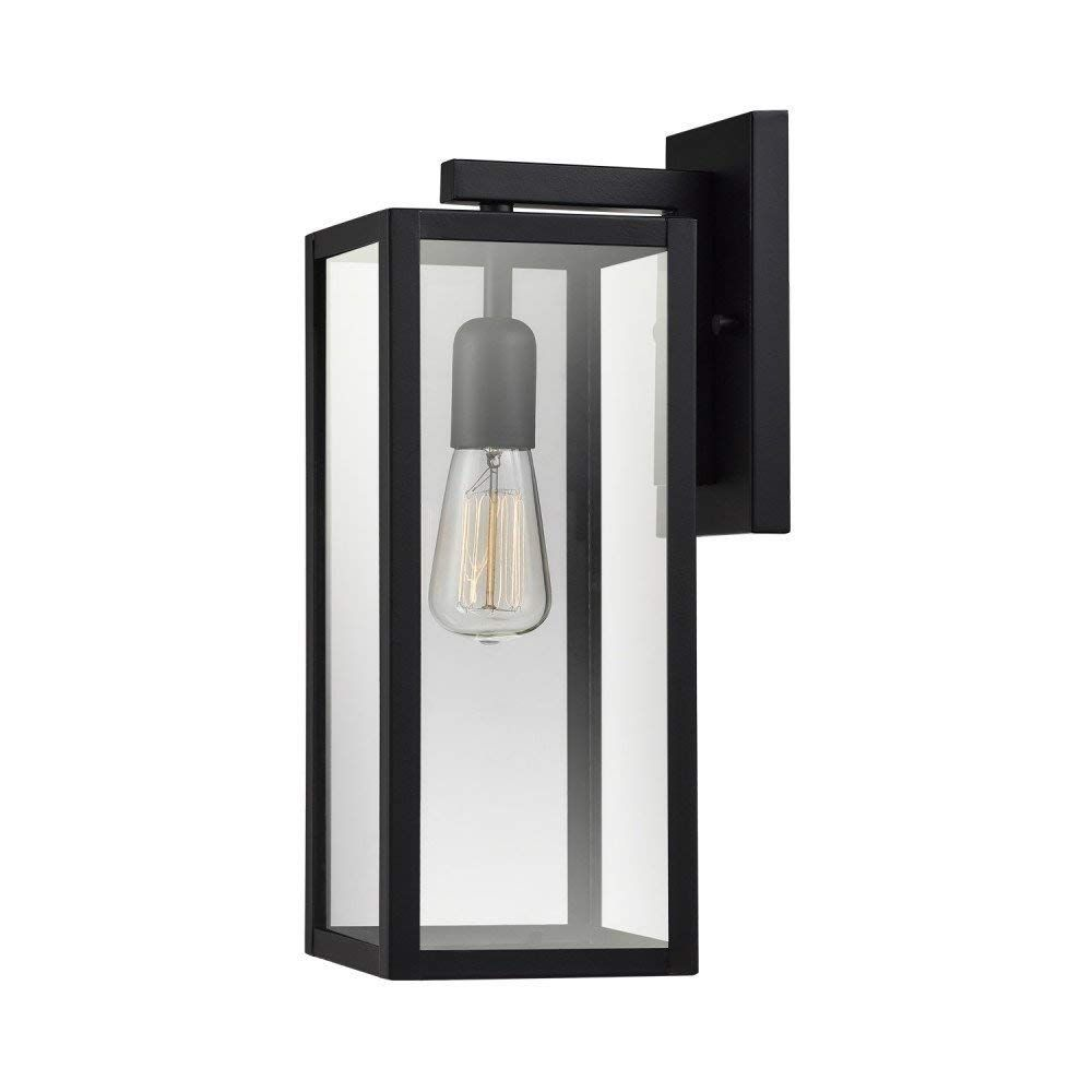Amazon Com Globe Electric 44176 Hurley 16 1 Light Outdoor Wall Sconce Finish Clear Glass Shade Mat Outdoor Sconces Indoor Wall Sconces Outdoor Wall Lantern