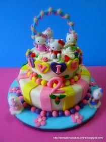 Sensational Cakes Online Singapore H Kitty 2Tier 3D Cake FEEDBACK For Tavisha Anniversary 1st Birthday