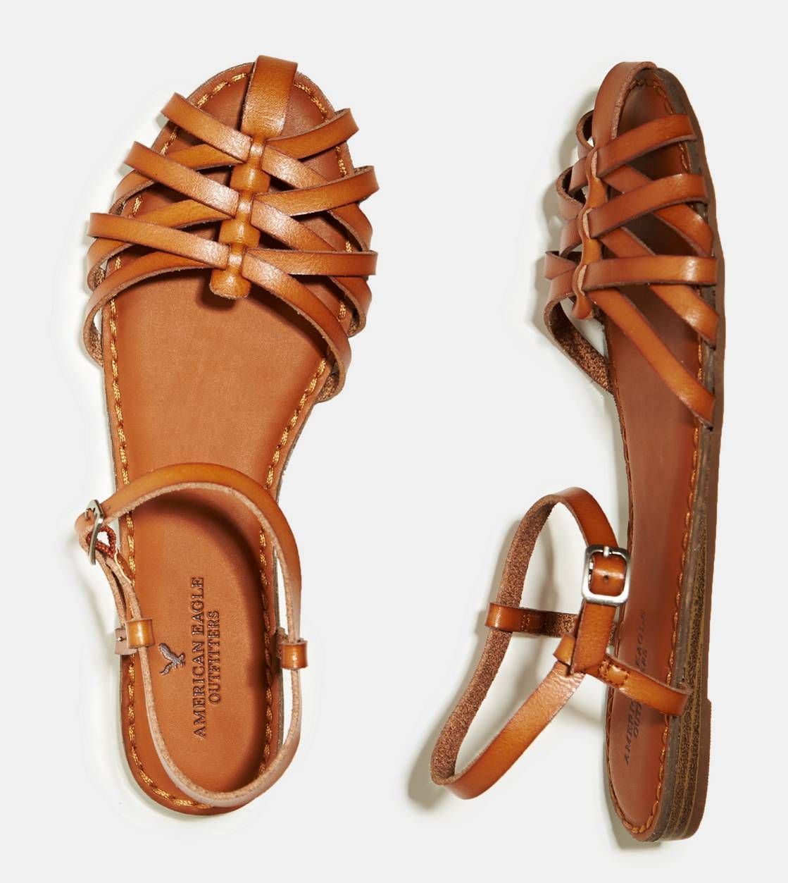 5886aa79feaf8 Tan Fisherman Sandals-American Eagle  29.95