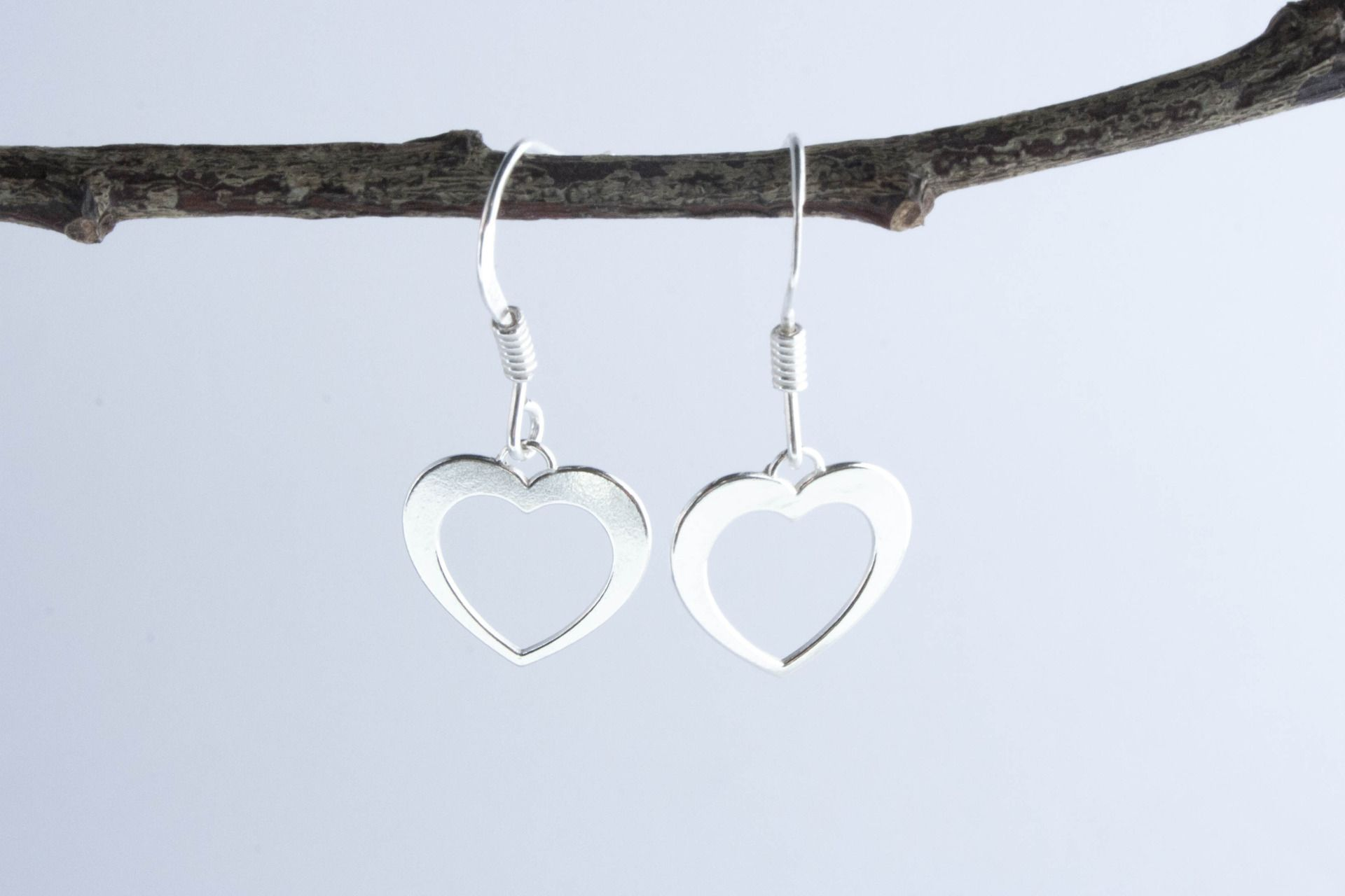 Boucles d'Oreilles Animini Coeur en Argent Massif : Boucles d'oreille par de-fil-et-d-argent