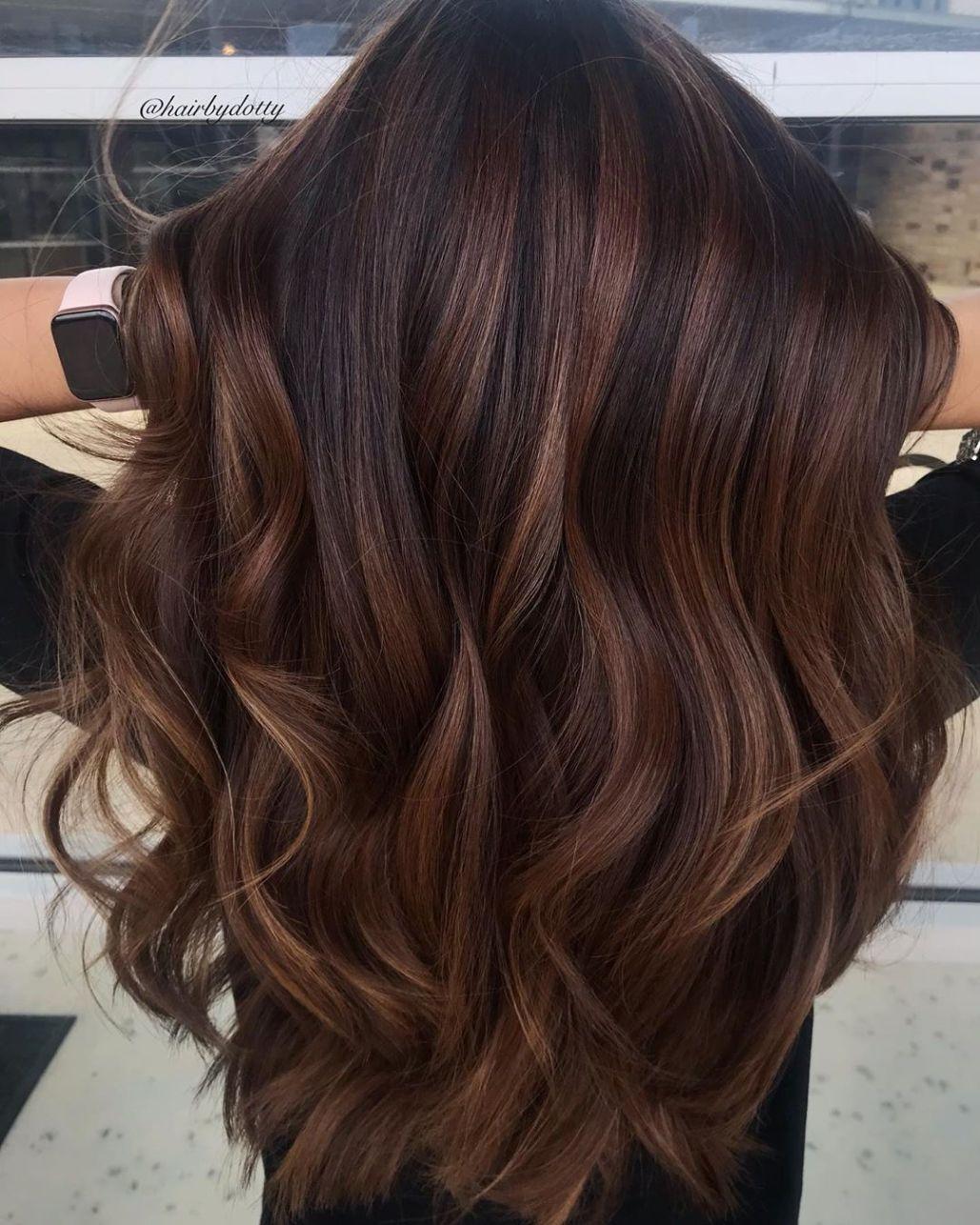 Two Tone Dark Chocolate Hair Color Brown Hair Balayage Brunette Hair Color Hair Color For Women