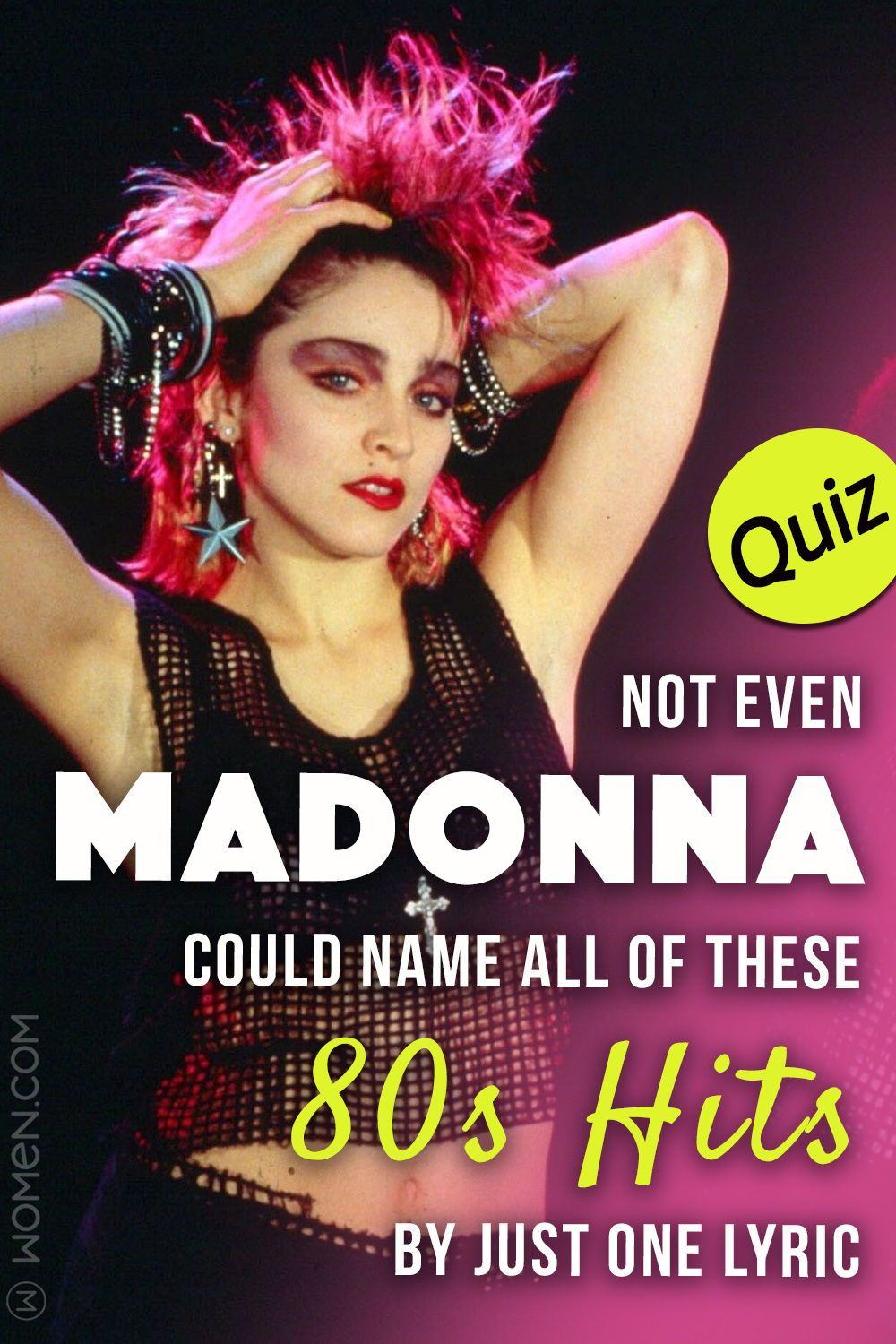 Quiz Not Even Madonna Could Name All Of These 80s Hits By Just
