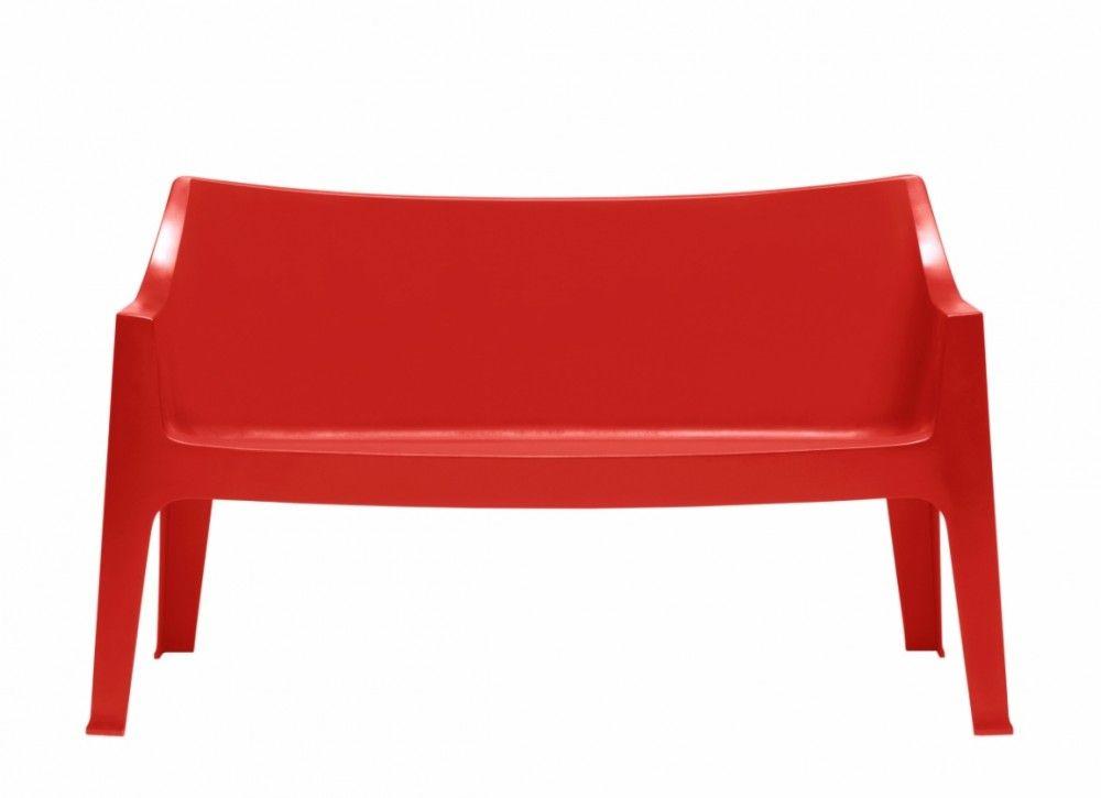 Gartenbank rot, Sofa Kunststoff, Outdoor- Bank rot | onsglück ...