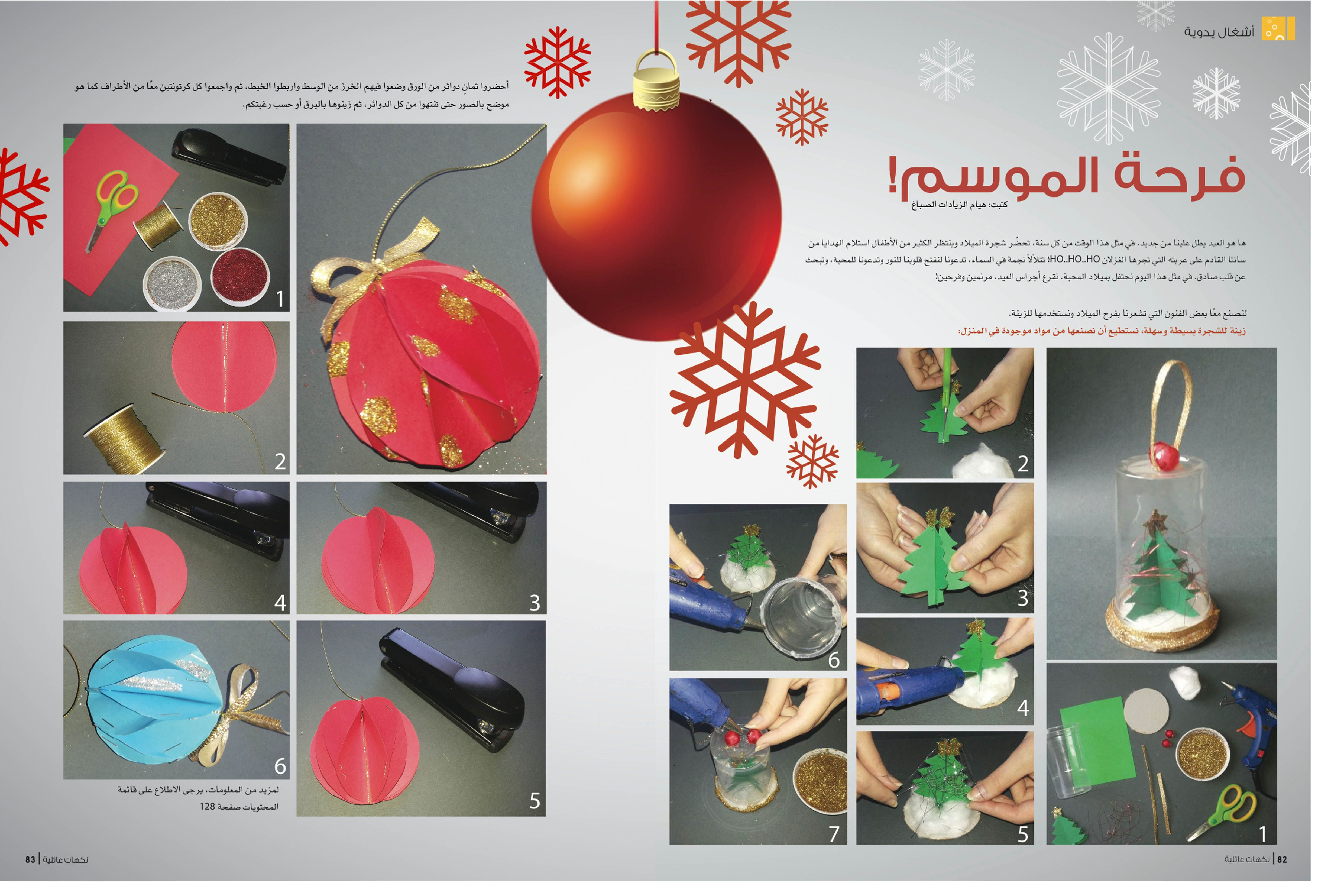 فنون يدوية بسيطة لصنع أجمل زينة لشجرة عيد الميلاد المجيد Birthday Delight