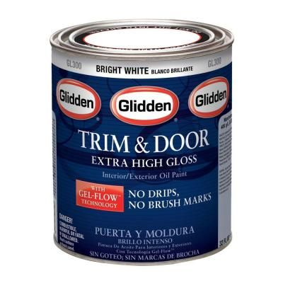 Glidden Trim And Door 1 Qt Bright White Gloss Interior Exterior Oil