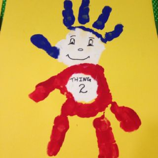 Thing 2 hand activity we did in my kindergarten class for Dr. Seuss Day