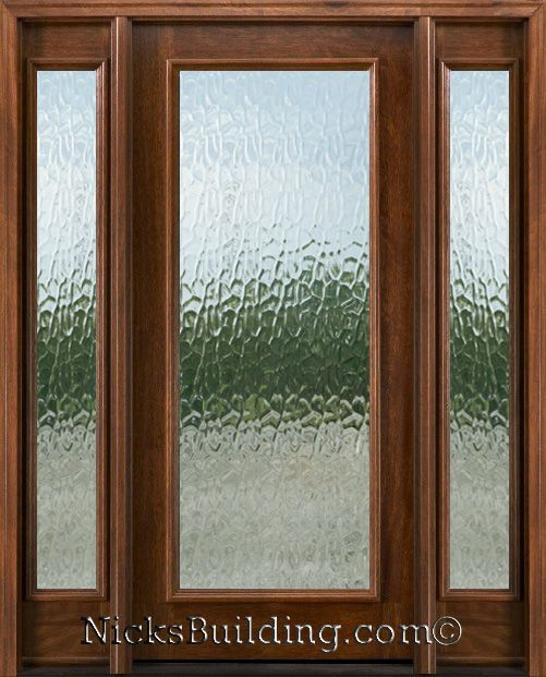 Full view glass exterior doors flemish glass full view for Full window exterior door