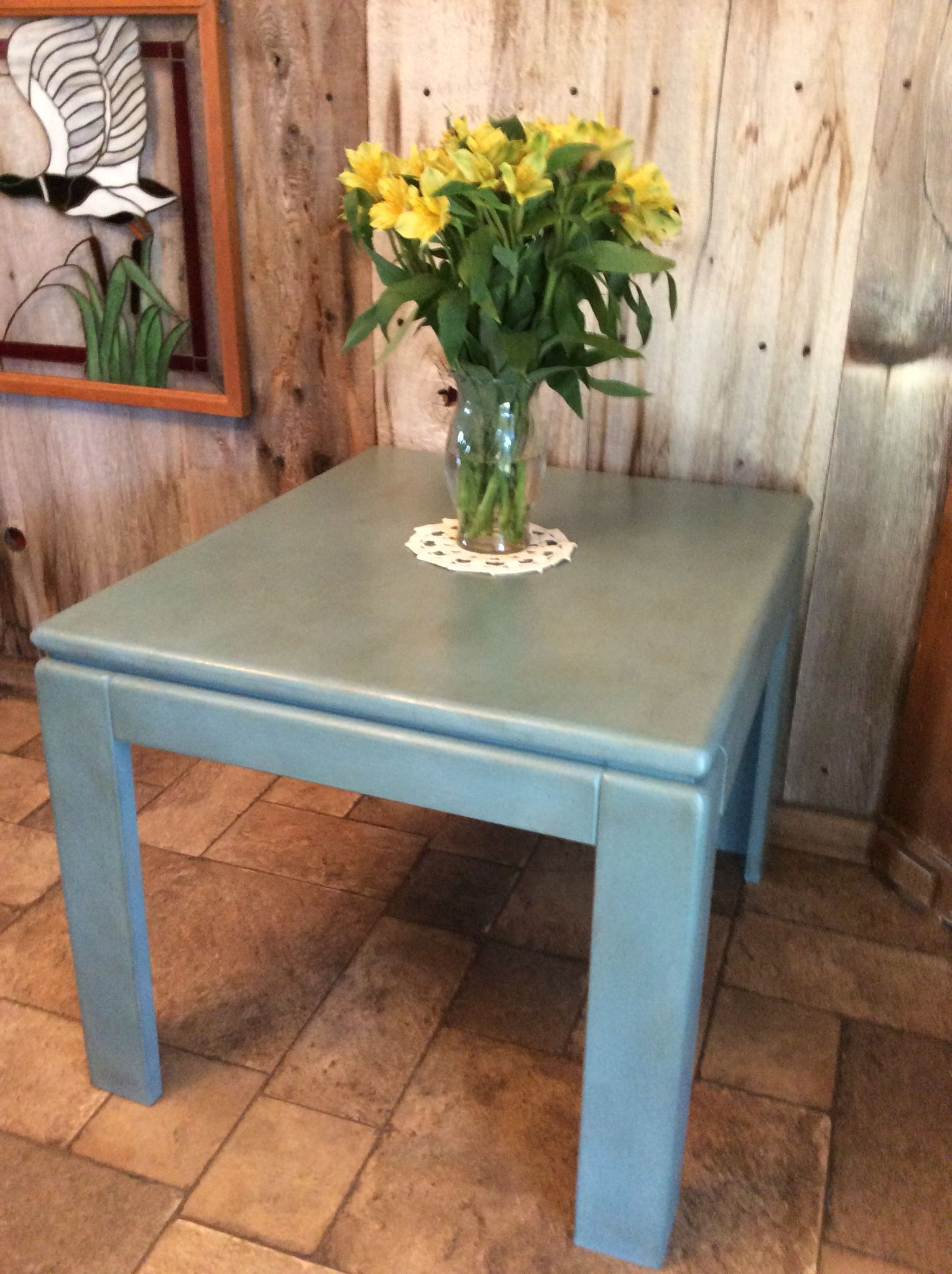 This End Table I Did In Amy Howard One Step Paint In Vintage Affliction,  Waxed