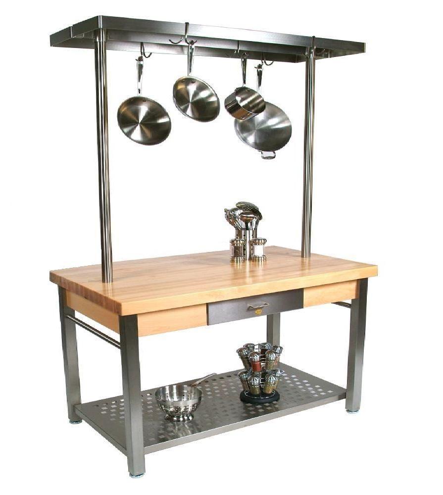 Cucina 4 X 4 john boos - butcher block table, ''cucina grande'' 28'' x 60