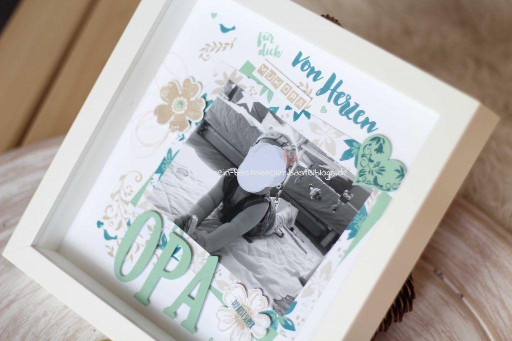 Scrapbooking Layout persönliches Foto Geschenk Opa Oma Großeltern ...