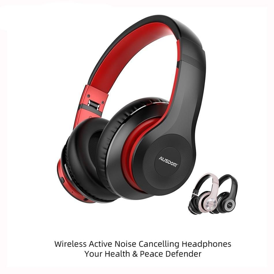 Foldable Active Noise Cancelling Bluetooth Wireless Headphones 30h Play Time Active Noise Cancellation Bluetooth Headphones Wireless Wireless Headphones