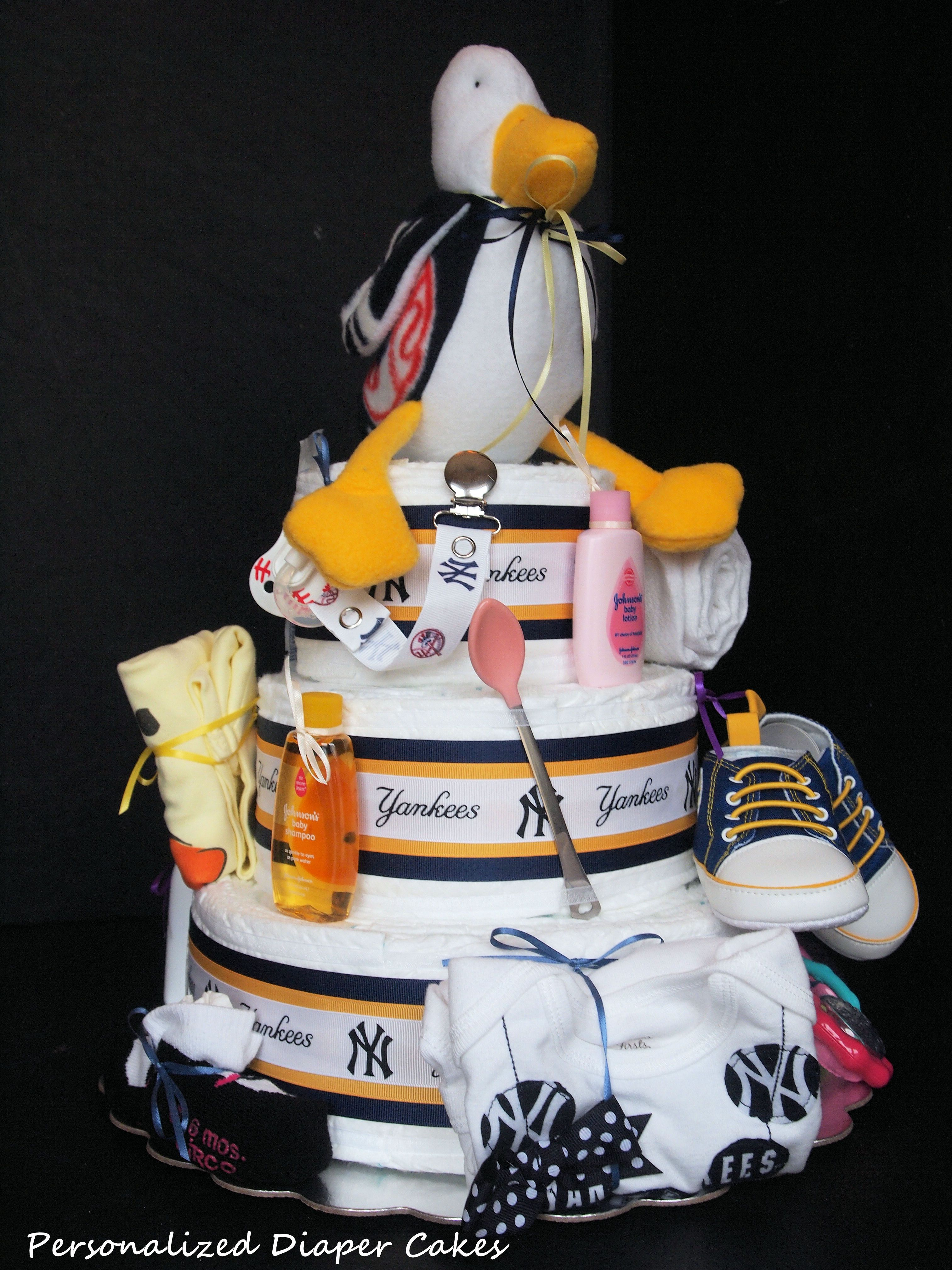 New York Yankees Wvu Mountaineers And Duck Themed Diaper