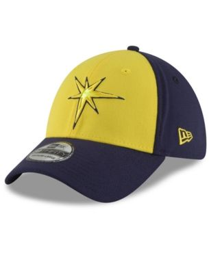 New Era Tampa Bay Rays Players Weekend 39THIRTY Cap - Yellow Navy M ... bbeb8f6a0e7e