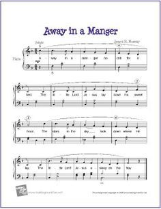Away in a Manger (Christmas) | Free Sheet Music for Easy Piano ...