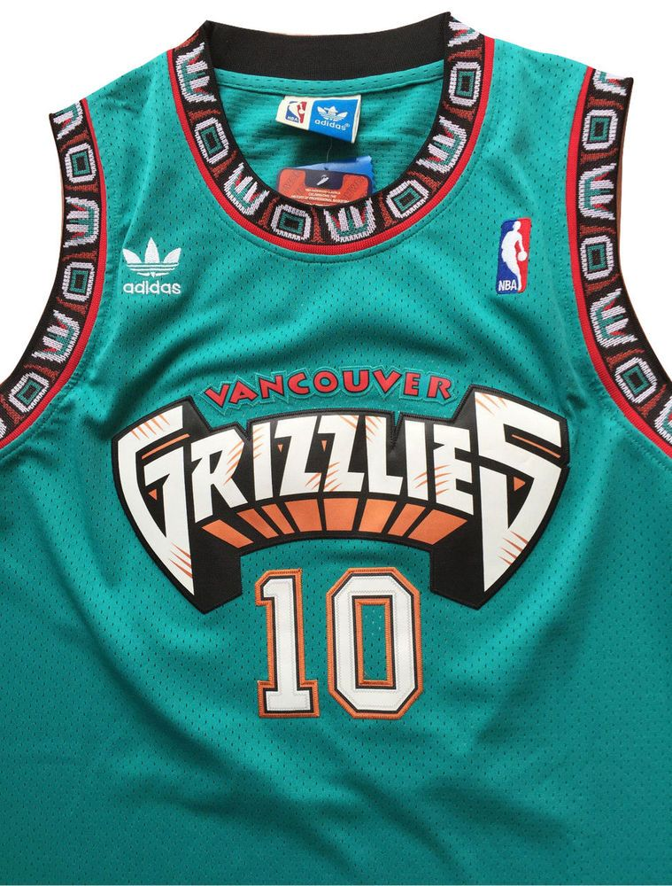 purchase cheap aadd2 a7caa NBA Vancouver Grizzlies Mike Bibby # 10 Men's Home Jersey ...